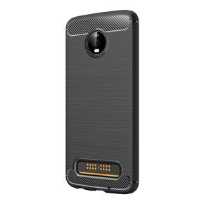 Чехол ERBORD Karbon до Motorola Moto Z4 Play, Black