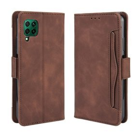 Чехол Wallet до  Huawei P40 Lite, Card Slot, Brown