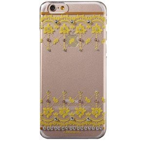 Etui KINGXBAR Deluxe Swarovski Hard Case iPhone 6/6S 4.7 - Rosa Multiflora/Yellow