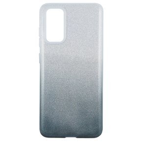 Чoхол Glitter  Case до Samsung Galaxy S20 Plus - Silver / Black